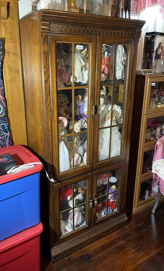 NIce wooden Oak Display or China Cabinet