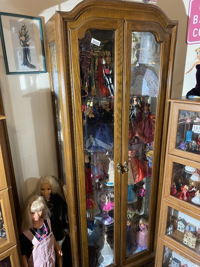 Nice larger sized curio or display cabinet
