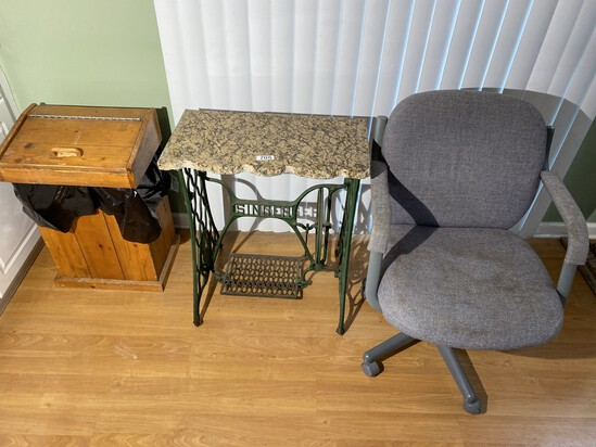 Singer Sewing Machine Base with Marble Top