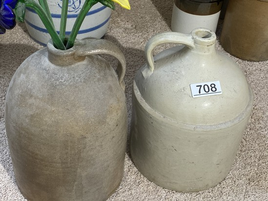 Pair of antique crocks including marked