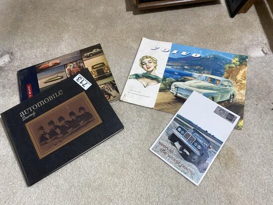 Old Volvo, Jeep Brochures, Auto Quarterly books