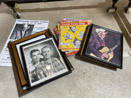 Group lot of Old Country Music Paper, Autographs etc