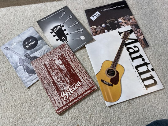 Old Gibson Guitars Catalogs PLUS Martin