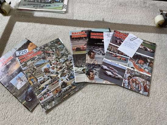 Group lot of old racing Pictorial magazines