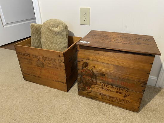 2 Vintage Whisky Crates