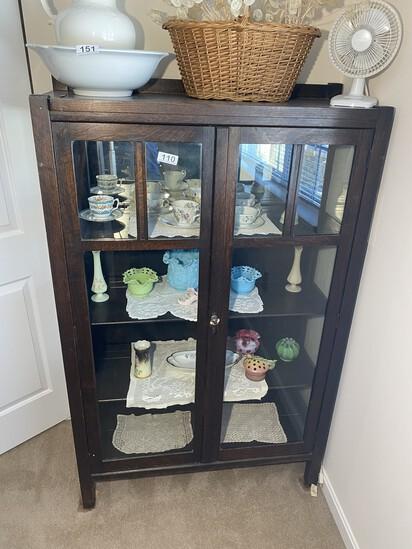Antique Mission Style Oak Bookcase