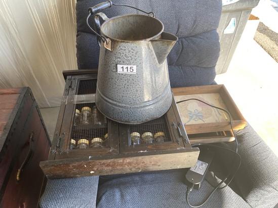 Very Large Enamel Coffee pot PLUS