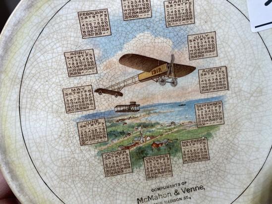1912 Aviation Advertising Plate