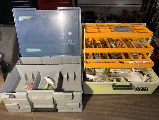 2 Fishing Tackle Boxes with Contents