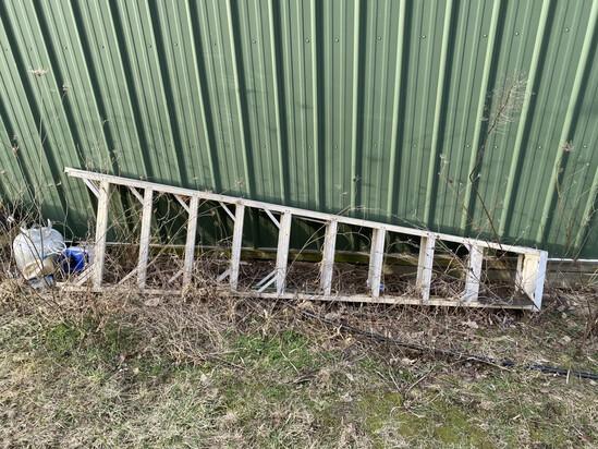 10' long fiberglass ladder by Werner