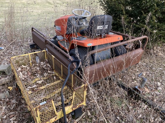 Huskee Lawn Mower, Trailer, metal wagon