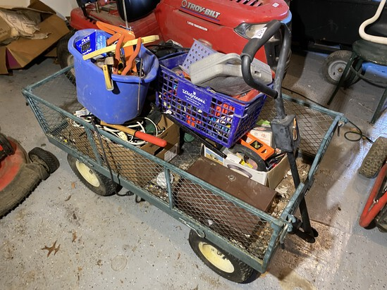 Metal wagon with Pneumatic Tires
