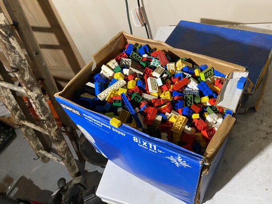 Large box of assorted Legos