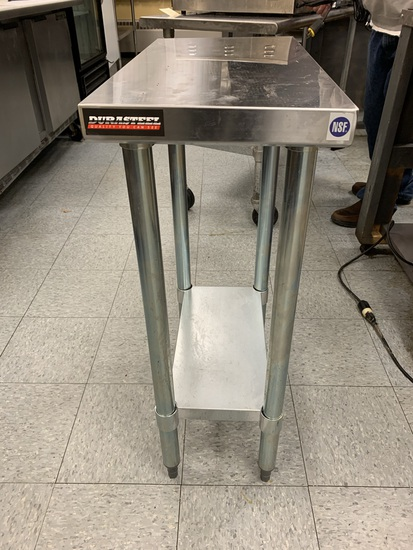 Durasteel Stainless Steel Small Prep Table with Adjustable Legs