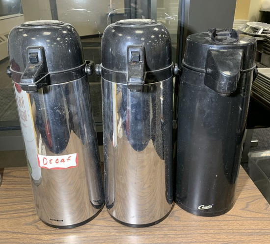 3 coffee carafes.  See Photos