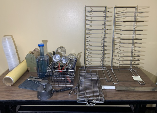 Metal Shelf Pizza Pan Racks, Knife Pro Cutter, Kitchen Utensils & More