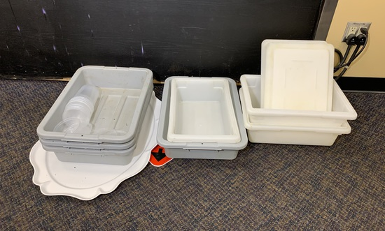 Large Group of Food Prep Storage Containers