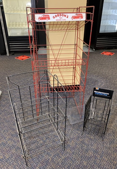 3 Metal Wire Floor Retail Store Display Racks