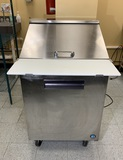 Hoshizaki CRMR27-12M 1 Door, Top Stainless Steel Refrigerated Sandwich Prep Table