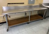 Tabco Stainless Steel Prep Table On Casters