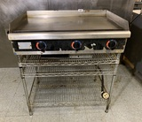 Star ELECTRIC Countertop Griddle with Stainless Steel Shelf / Stand