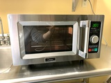 Midea Equipment 1025F2A Stainless Steel Countertop Commercial Microwave Oven, 1000W