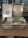 7 Stainless Steel NSF Steam Table Pans Including 1 Stainless Steel Lid