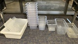 11 Vollrath 1 Liter Plastic Containers, 3 Carlisle 2.4 Quart Containers and more