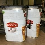 2 Bunn TDO-N-3.5 3.5 Gallon Narrow Iced Tea Dispenser with Lift Handle