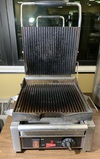 Cecilware SG1SG Single Panini Sandwich Grill with Grooved Grill Surfaces