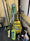 Large Group - Aprons, Cleaning Chemicals, Cleaning Supplies, & Micro Shop Vac