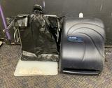 San Jamar Paper Towel Dispenser & Bag Rack