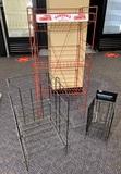 3 Metal Wire Floor Retail Store Display Racks