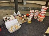 Large Group of Spices, Condiments, Coffee Creamer, and Assorted Kitchen Items