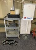 Open Sign, Display Board, Calendar Dry Erase Board, Cart, Scale & More