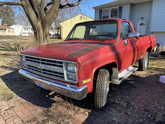 1986 Chevrolet K20 3/4 Ton 4x4 Pickup Truck Manual Shift