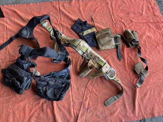 Work belt assortment including vintage leather