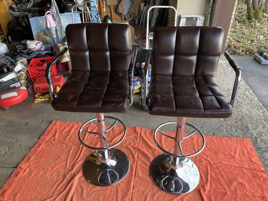 Pair of vintage Salon or Bar Chairs