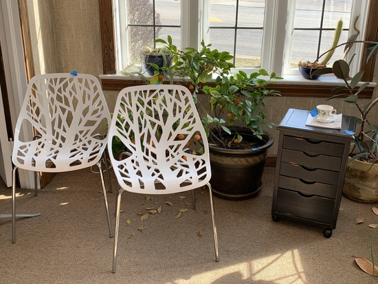 Plants, Planters, Office Chairs, Wood Side Table & More