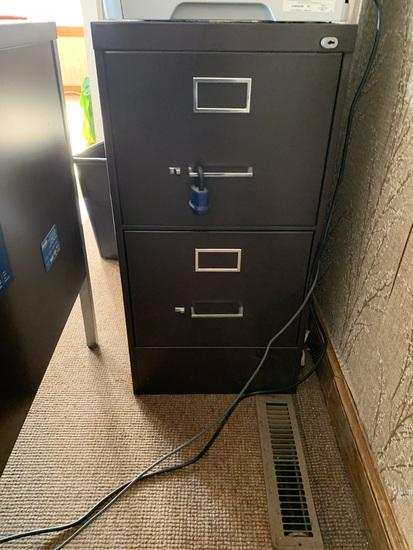 2 Drawer Metal Filing Cabinet (NO KEY)