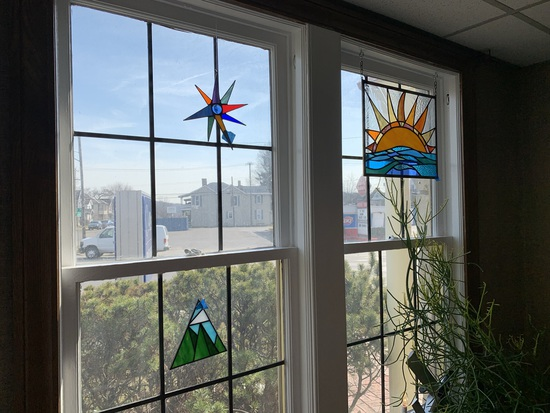 3 Pieces of Stained Glass