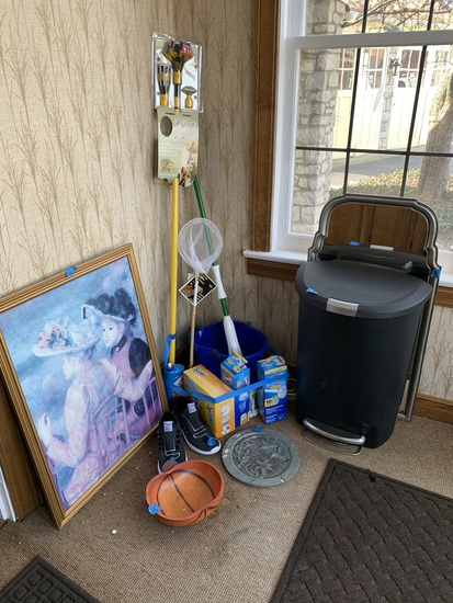Cleaning Supplies, Mirror, Trash Can & More