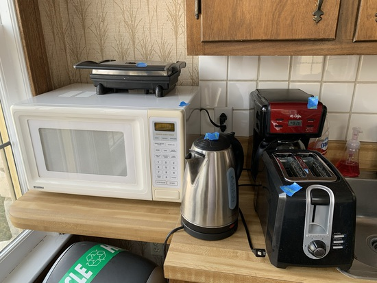 Kenmore Microwave, Toaster Coffee Pot & More