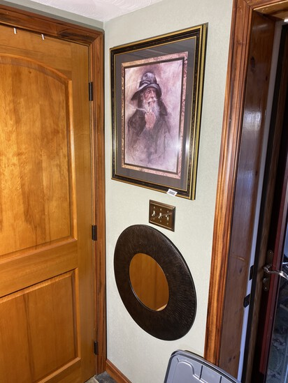 Framed print of a sailor PLUS round mirror