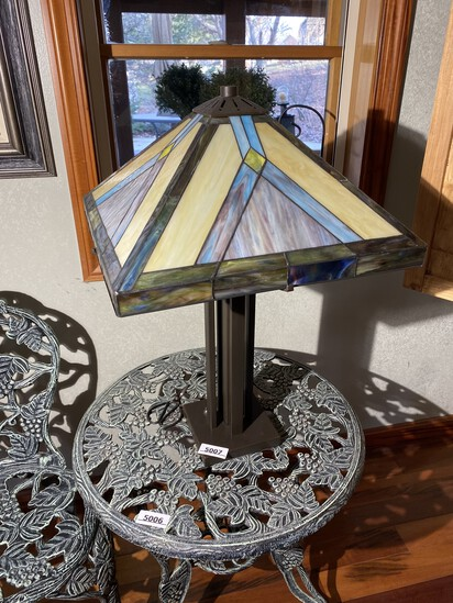 Stained Glass Style Nice Tiffany Type Lamp