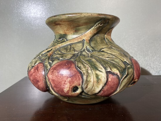 Rare Weller Art Pottery Apples and boughs Vase or Planter
