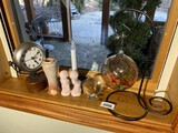 Assorted items on windowsill lot