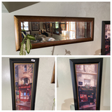 Group lot - 2 pieces of art plus mirror