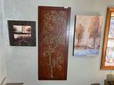 3 pieces of decorator art