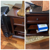2 End Tables or Lamp Stamps PLUS heater